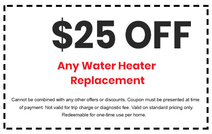 Discount on Any Water Heater Replacement